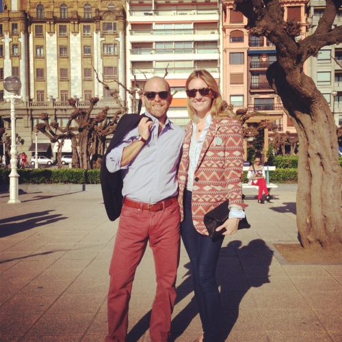 Carlos and I in San Sebastian
