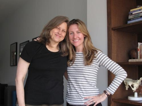Carole and I at the studio